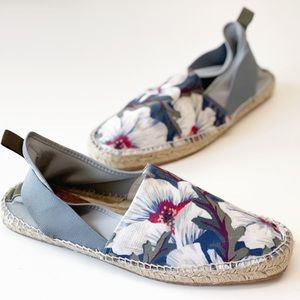 H BY HUDSON Men's Floral Kradan Canvas Espadrille